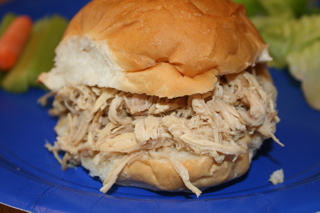 Shredded Turkey Sandwiches