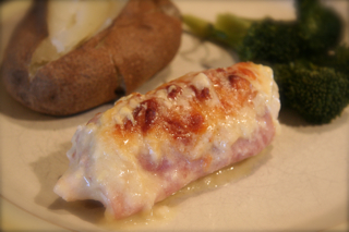 Chicken wrapped in Ham & Cheese