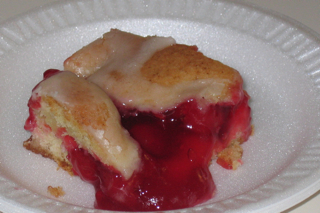 Cherry or Blueberry Coffee Cake