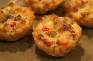 Italian Sausage Wontons
